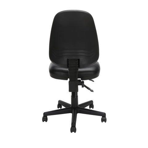 OFM Straton Series Armless Swivel Task Chair, Anti-Microbial/Anti-Bacterial Vinyl, Mid Back, in Black (119-VAM-606) ; UPC: 811588012664 ; Image 3
