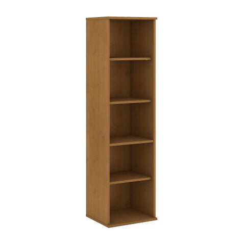 Bush BBF Bookcases 66H 5 Shelf Narrow Bookcase, Natural Cherry BK6618NC ; UPC: 042976498856 ; Image 1