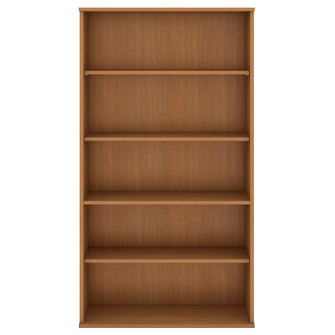 Bush Business Furniture 72H 5 Shelf Bookcase in Modern Cherry ; UPC:042976498887 ; Image 2