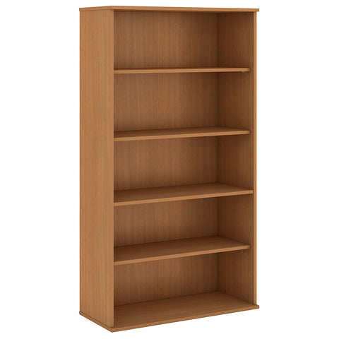 Bush Business Furniture 72H 5 Shelf Bookcase in Modern Cherry ; UPC:042976498887 ; Image 1