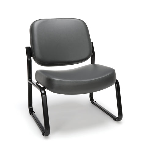 OFM Model 409-VAM Big and Tall Armless Guest and Reception Chair, Anti-Microbial/Anti-Bacterial Vinyl, Charcoal ; UPC: 845123028681 ; Image 1