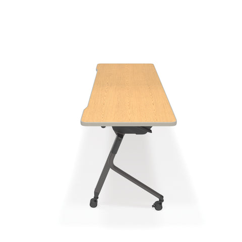 "OFM Mesa Series Model 66152 Flip Nesting Training Table and Desk, 23.5"" x 59"", Oak ; UPC: 845123080405 ; Image 4"