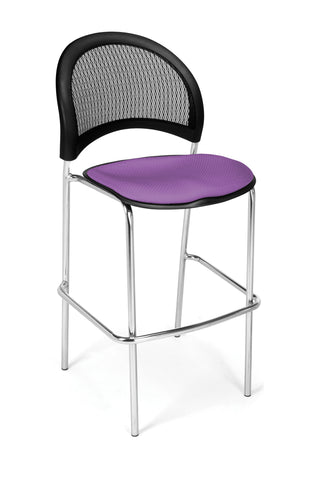 OFM 338C-2214 Moon Cafe Height Chair, Plum ; UPC: 845123005286 ; Image 1