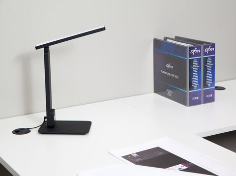 OFM 4025-10PK-BLK Industrial LED Desk Lamp with Touch Activated Switch and USB Charging Port, Black (Pack of 10) ; UPC: 192767001212 ; Image 11