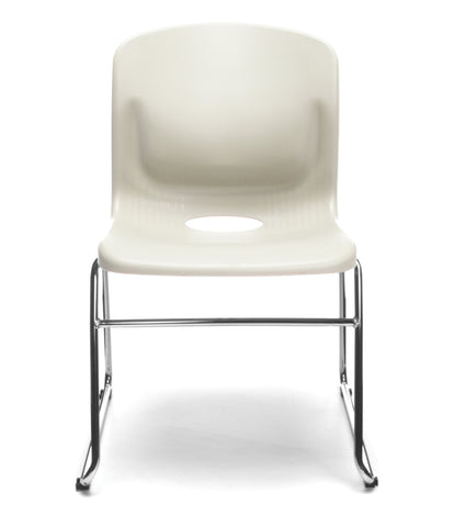 OFM Model 315 Multi-Use Stack Chair, Plastic Seat and Back, Ivory ; UPC: 845123034781 ; Image 2