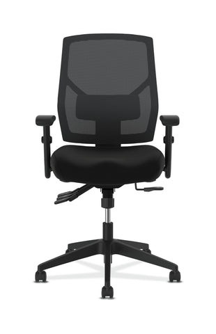 HON Crio High-Back Task Chair -Mesh Back Computer Chair with Asynchronous Control for Office Desk, Black (HVL582) ; UPC: 888206940081 ; Image 2
