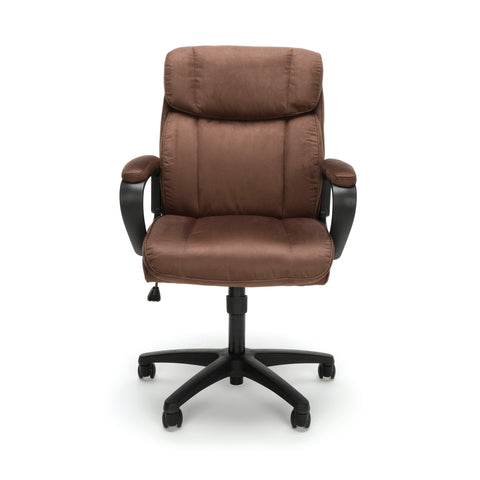 Essentials by OFM ESS-3082 Plush Microfiber Office Chair, Brown ; UPC: 845123095287 ; Image 2
