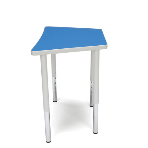 OFM Adapt Series Trapezoid Standard Table - 23-31? Height Adjustable Desk, Blue (TRAP-LL) ; UPC: 845123096666 ; Image 5