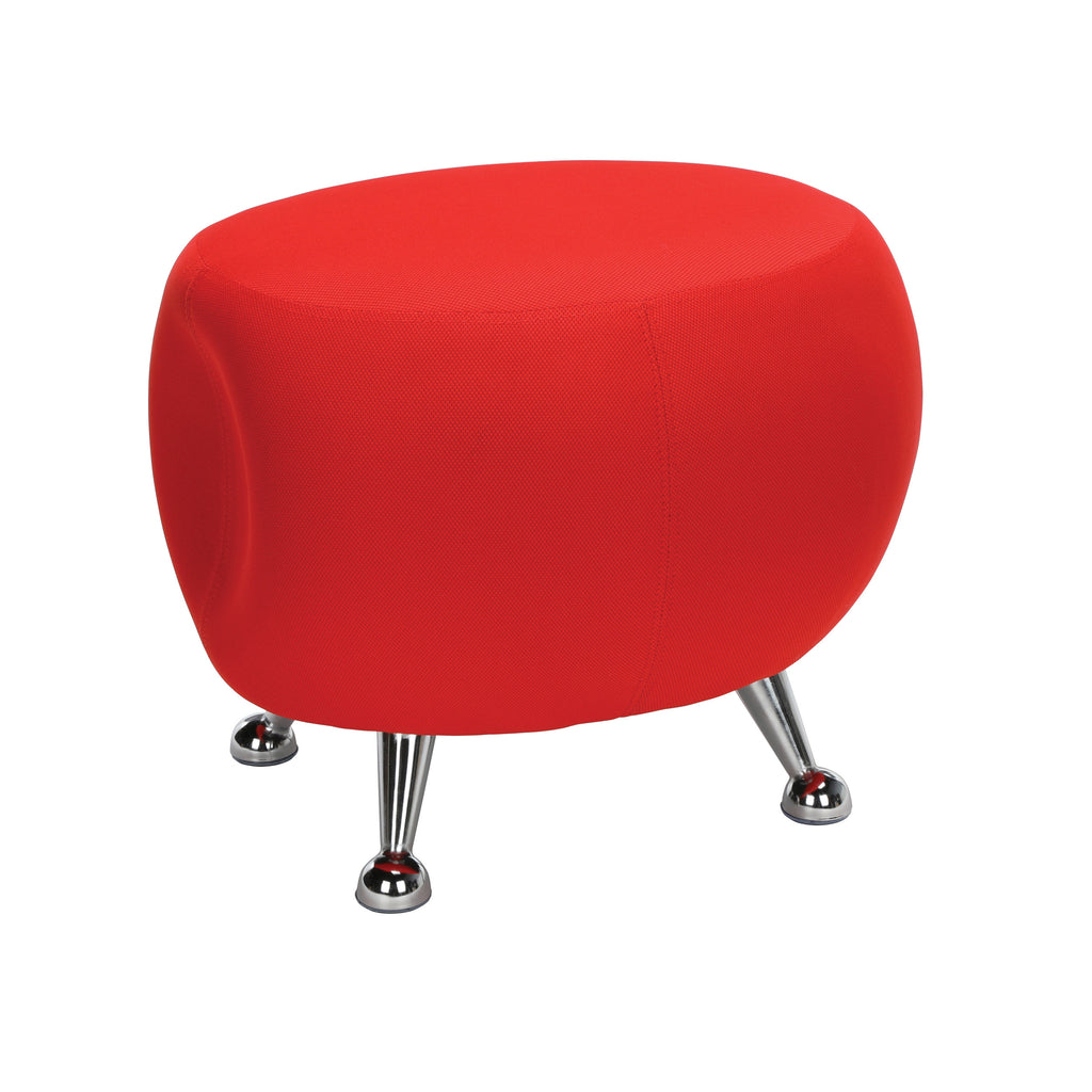 OFM Jupiter Series Fabric Ball Stool, in Red (2001-2312) ; UPC: 845123053324 ; Image 1
