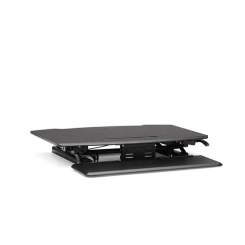 HON Desktop Riser with Keyboard Tray, Black ; UPC: 888852693232; Image 2