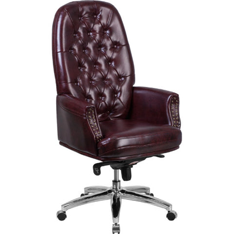 Flash Furniture High Back Traditional Tufted Burgundy Leather Multifunction Executive Swivel Ergonomic Office Chair with Arms BT90269HBYGG ; Image 1 ; UPC 889142077879