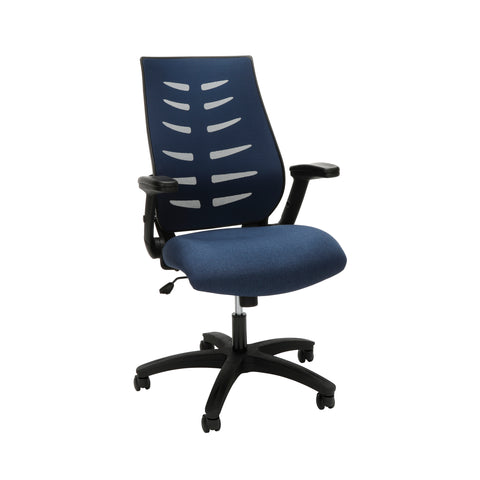 OFM Model 530-BLU Core Collection Midback Mesh Office Chair for Computer Desk, Blue ; UPC: 192767000338 ; Image 1