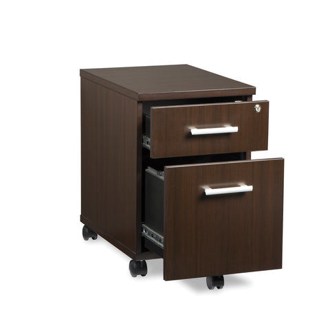 OFM Fulcrum Series Locking Pedestal, Mobile 2-Drawer Filing Cabinet, Espresso (CL-MBF-ESP) ; UPC: 845123097526 ; Image 6