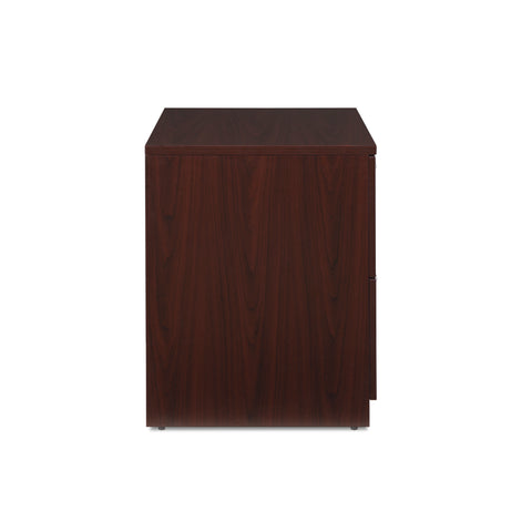 OFM Fulcrum Series Locking Lateral File Cabinet, 2-Drawer Filing Cabinet, Mahogany (CL-L36W-MHG) ; UPC: 845123097571 ; Image 4