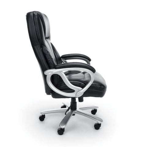 Essentials by OFM ESS-202 Big and Tall Leather Executive Office Chair with Arms, Black/Silver ; UPC: 845123080139 ; Image 4