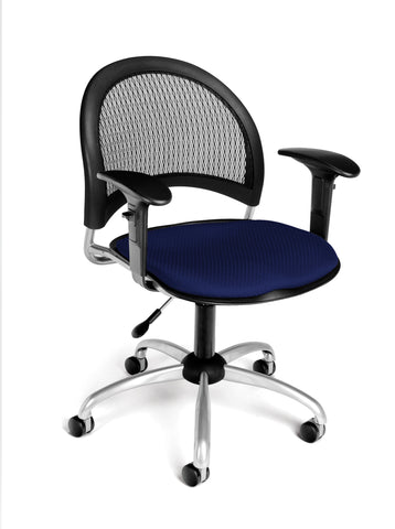 OFM 336-AA3-2203 Moon Swivel Chair with Arms, Navy ; UPC: 845123013953 ; Image 1