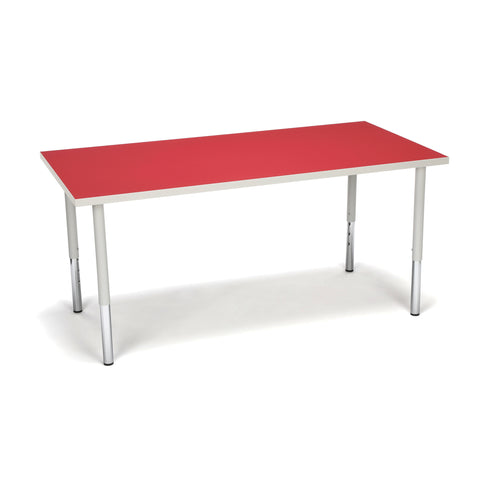 OFM Adapt Series Rectangle Standard Table - 23-31? Height Adjustable Desk, Red (RECT-LL) ; UPC: 845123096048 ; Image 1