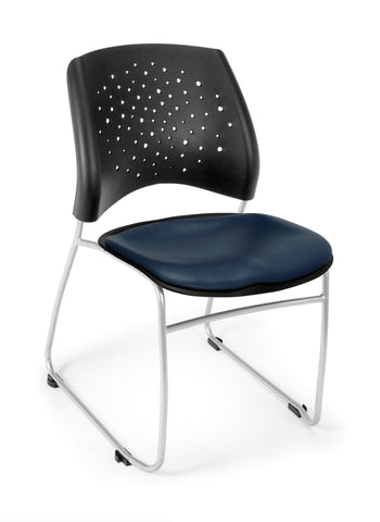 OFM Stars Series Model 325-VAM Anti-Microbial/Anti-Bacterial Vinyl Stack Chair, Navy ; UPC: 845123012345 ; Image 1
