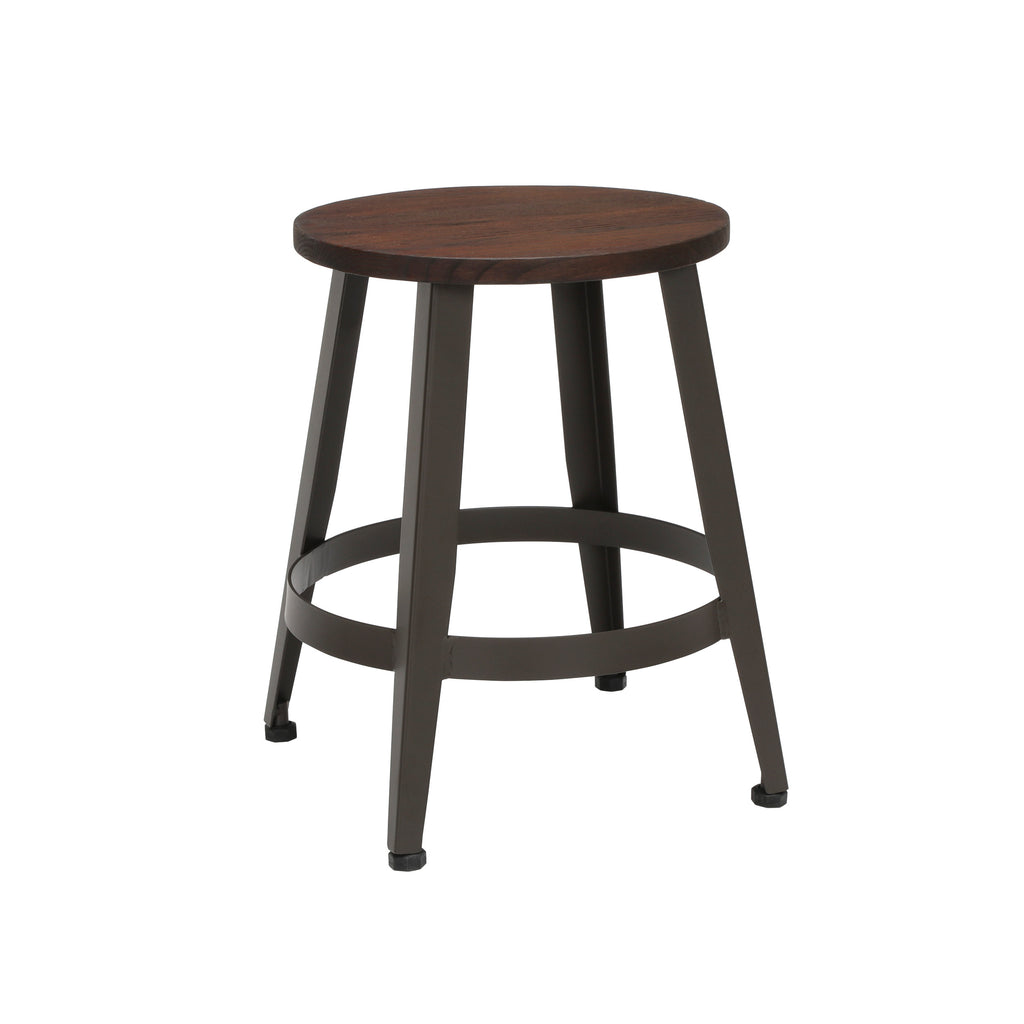 "OFM Core Collection Edge Series 18"" Table Height Metal Stool, in Walnut (33918W-WLT) ; UPC: 192767002431 ; Image 1"