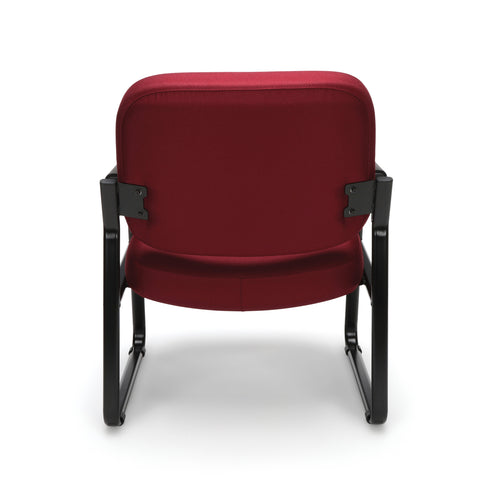 OFM Model 407 Fabric Big and Tall Guest and Reception Chair with Arms, Wine ; UPC: 845123028568 ; Image 3