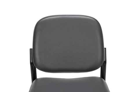 OFM Model 405-VAM Armless Guest and Reception Chair, Anti-Microbial/Anti-Bacterial Vinyl, Charcoal ; UPC: 811588014347 ; Image 6