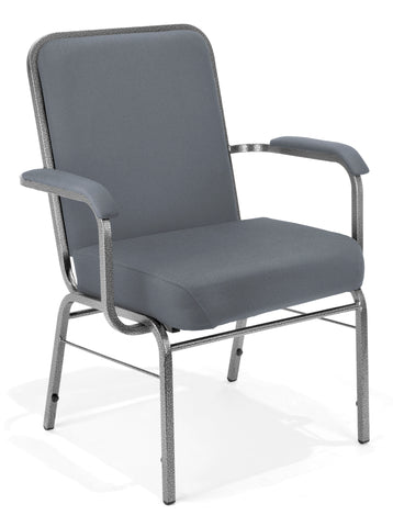 OFM Big and Tall Comfort Class Series Fabric Arm Chair, Gray ; UPC: 845123004012 ; Image 1