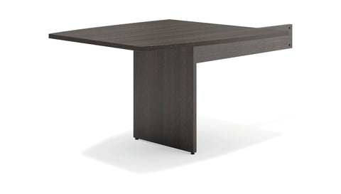 "HON Modular Conference Table, Boat End, 48""W x 96""D, Espresso (BSXBLMT48B) ; UPC: 641128329958 ; Image 1"