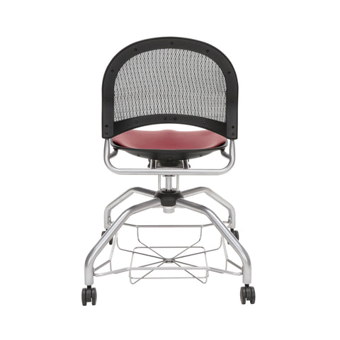 OFM Moon Foresee Series Chair with Removable Vinyl Seat Cushion - Student Chair, Wine (339-VAM) ; UPC: 845123094532 ; Image 3