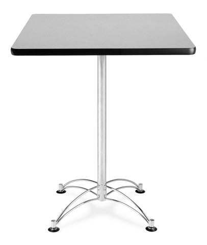 "OFM Model CCLT30SQ 30"" Square Cafe Height Table, Gray Nebula with Chrome Base ; UPC: 845123006382 ; Image 1"