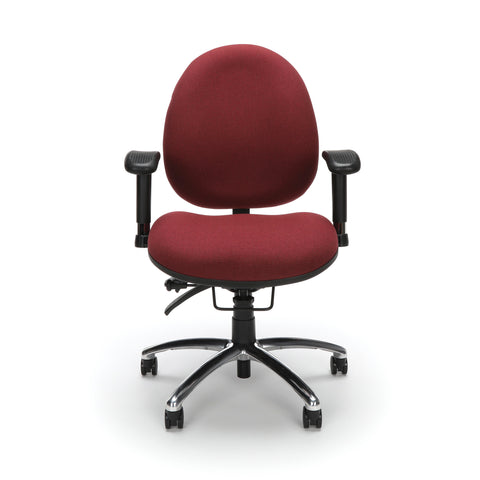 OFM 24 Hour Big and Tall Ergonomic Task Chair - Computer Desk Swivel Chair with Arms, Burgundy (247) ; UPC: 811588010288 ; Image 2