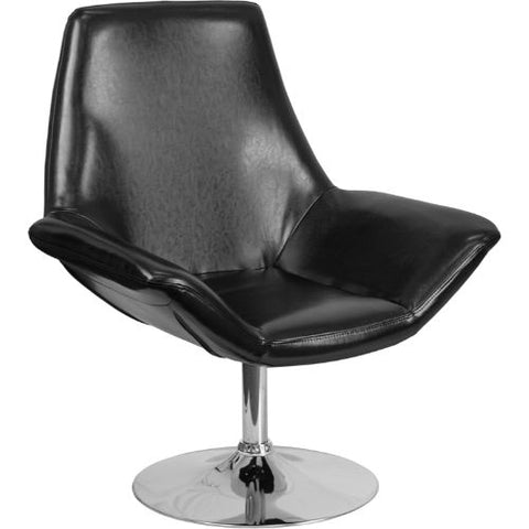 Flash Furniture HERCULES Sabrina Series Black Leather Side Reception Chair CH102242BKGG ; Image 1 ; UPC 889142047896