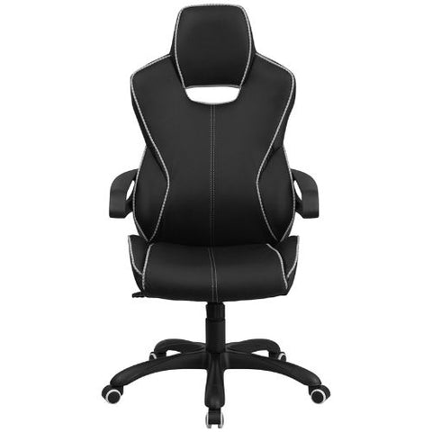 Flash Furniture High Back Black Vinyl Executive Swivel Office Chair with White Trim and Arms CHCX0699H01GG ; Image 4 ; UPC 889142011040