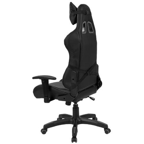 Flash Furniture Cumberland Comfort Series High Back Black and Gray Reclining Racing/Gaming Office Chair with Adjustable Lumbar Support CHCX1064HGG ; Image 3 ; UPC 889142258032