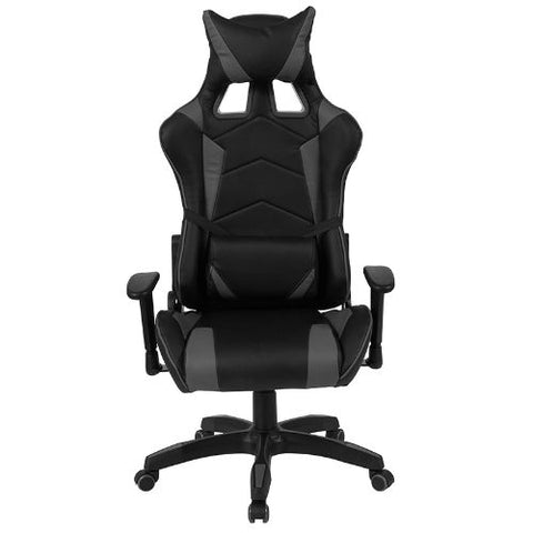 Flash Furniture Cumberland Comfort Series High Back Black and Gray Reclining Racing/Gaming Office Chair with Adjustable Lumbar Support CHCX1064HGG ; Image 4 ; UPC 889142258032