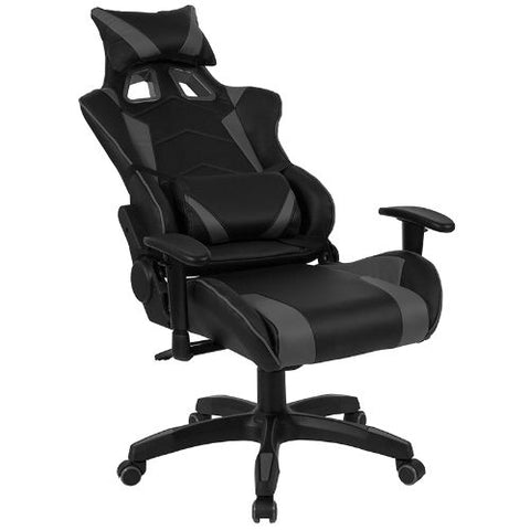 Flash Furniture Cumberland Comfort Series High Back Black and Gray Reclining Racing/Gaming Office Chair with Adjustable Lumbar Support CHCX1064HGG ; Image 5 ; UPC 889142258032