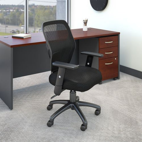 Bush Business Furniture Accord Mesh Back Office Chair in Black Fabric (CH1205BLF-03) ; Image 2