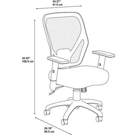 Bush Business Furniture Accord Mesh Back Office Chair in Black Fabric (CH1205BLF-03) ; Image 6