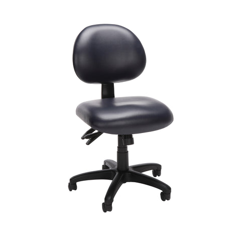 OFM Core Collection 24 Hour Mid Back Ergonomic Armless Task Chair, Anti-Microbial/Anti-Bacterial Vinyl, in Navy (241-VAM-605) ; UPC: 811588013494 ; Image 1