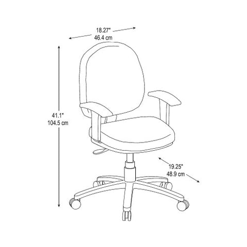 Bush BBF Commercial Chairs Task Chair with Arms, CH57502K ; UPC: 042976498504 ; Image 2