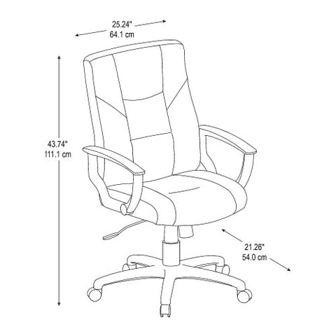 Bush BBF Commercial Chairs Leather Managers Chair, CH57505K ; UPC: 042976498559 ; Image 2
