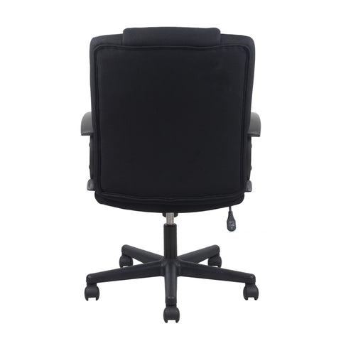 Essentials by OFM ESS-3080 Mid-Back Swivel Upholstered Task Chair, Black ; UPC: 089191013228 ; Image 3
