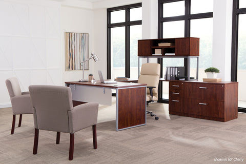 "OFM Fulcrum Series 72"" Hutch with Doors, Office Cabinet for Storage, Cherry (CL-H7215-CHY) ; UPC: 845123097625 ; Image 7"