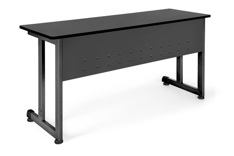 "OFM Model 55141 20"" x 55"" Modular Utility and Training Table, Graphite with Black Frame ; UPC: 811588017010 ; Image 1"