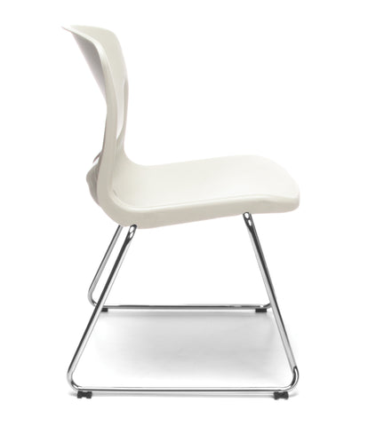 OFM Model 315 Multi-Use Stack Chair, Plastic Seat and Back, Ivory ; UPC: 845123034781 ; Image 4