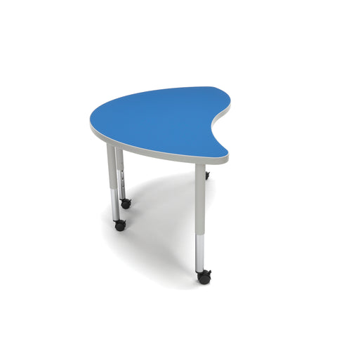 OFM Adapt Series Ying Student Table - 20-28? Height Adjustable Desk with Casters, Blue (YING-SLC) ; UPC: 845123096789 ; Image 4