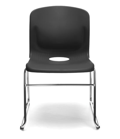 OFM Model 315 Multi-Use Stack Chair, Plastic Seat and Back, Black ; UPC: 845123003664 ; Image 2