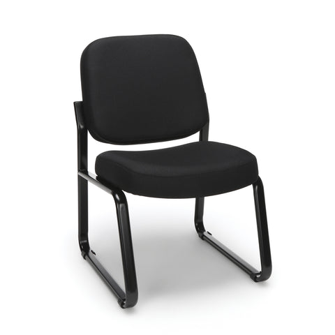 OFM Model 405 Fabric Armless Guest and Reception Chair, Black ; UPC: 811588014309 ; Image 1