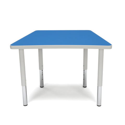 OFM Adapt Series Trapezoid Student Table - 18-26? Height Adjustable Desk, Blue (TRAP-SL) ; UPC: 845123096345 ; Image 2