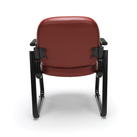 OFM Model 403-VAM Guest and Reception Chair with Arms, Anti-Microbial/Anti-Bacterial Vinyl, Wine ; UPC: 811588014187 ; Image 3