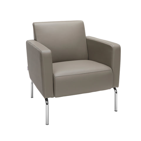 OFM Triumph Series Modular Lounge Chair with Arms, in Taupe (3002-PU607) ; UPC: 845123029992 ; Image 1